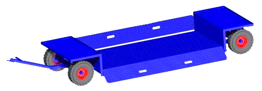 Low Loader Self Tracking Trailer