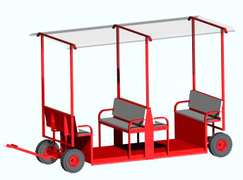 Low Loader Self Tracking Trailer For Passenger Transport