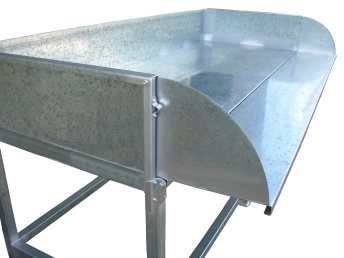 Potting Bench With Fold Down Side