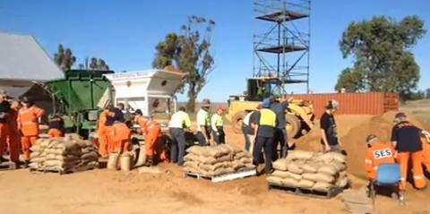 Emergency flood-proofing measures – using sandbags