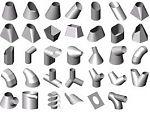 Profiles sheet metal transitions