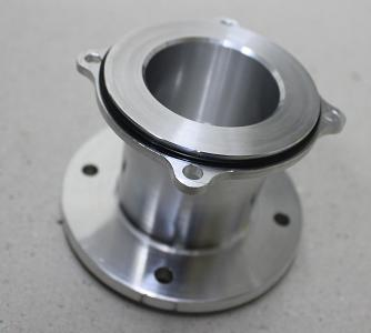 Adaptor machined complete on lathe