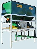 Dual hopper Ezi-bagger with adjustable shelves