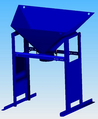 Kit Bulk Bagger with Spout Hopper