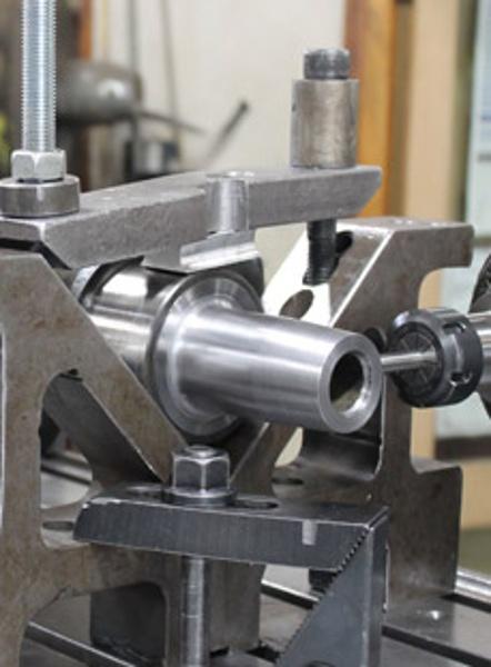 Cutting Keyway in crank shaft