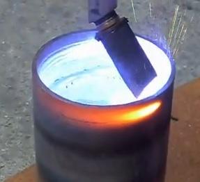 Internal hole welding