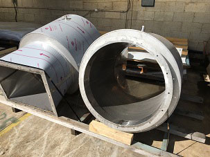 Stainless-steel-circular-silencers-with-rectangular-transition-for-air-conditioning-units