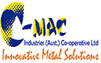 C-Mac New Logo with slogan  - Innovative Metal Solutions